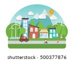 infographic green ecology city... | Shutterstock .eps vector #500377876