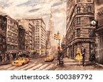 Oil Painting On Canvas  Street...