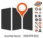 map pictograph with bonus... | Shutterstock .eps vector #500399302