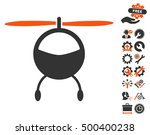 helicopter icon with bonus... | Shutterstock .eps vector #500400238