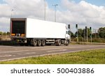 white lorry awaiting on the