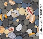 River Stones Seamless Pattern....