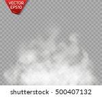 fog or smoke isolated... | Shutterstock .eps vector #500407132