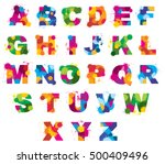 letters alphabet painted by... | Shutterstock .eps vector #500409496