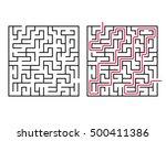 vector labyrinth. maze  ...   Shutterstock .eps vector #500411386