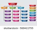 color trapezoid organization... | Shutterstock .eps vector #500411755