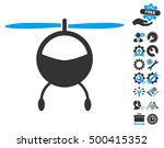 helicopter icon with bonus... | Shutterstock .eps vector #500415352