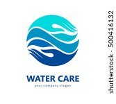 logo template water care.  | Shutterstock .eps vector #500416132