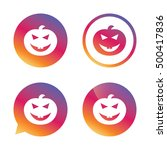 halloween pumpkin sign icon.... | Shutterstock .eps vector #500417836