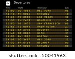 departure board   destination... | Shutterstock .eps vector #50041963