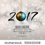 2017 happy new year background... | Shutterstock . vector #500420338