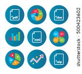 business pie chart. growth... | Shutterstock .eps vector #500423602