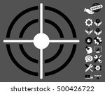 target pictograph with bonus... | Shutterstock .eps vector #500426722