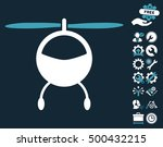 helicopter icon with bonus... | Shutterstock .eps vector #500432215