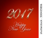 happy new year background with... | Shutterstock . vector #500435806