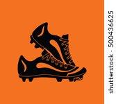 baseball boot icon. orange... | Shutterstock .eps vector #500436625