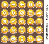 cartoon buttons set game with...