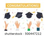 graduation ceremony concept.... | Shutterstock .eps vector #500447212