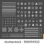 sacred geometry. set of minimal ... | Shutterstock .eps vector #500454532