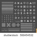 sacred geometry. set of minimal ... | Shutterstock .eps vector #500454532