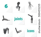 six human joints icons ankle... | Shutterstock .eps vector #500455255