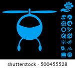 helicopter icon with bonus... | Shutterstock .eps vector #500455528