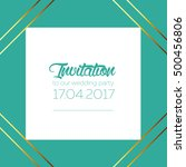 invitation template vector... | Shutterstock .eps vector #500456806