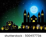 halloween background vector... | Shutterstock .eps vector #500457736