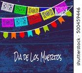 dia de los muertos  mexican day ... | Shutterstock .eps vector #500459446