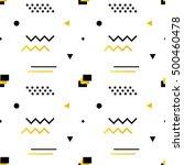 geometric shapes modern  trendy ... | Shutterstock .eps vector #500460478