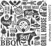 typographic vector barbecue... | Shutterstock .eps vector #500465572