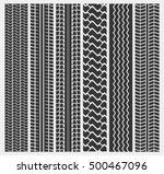 set of multiple car tire or... | Shutterstock .eps vector #500467096