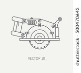 line flat vector icon with... | Shutterstock .eps vector #500470642