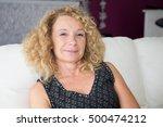smiling senior woman sitting in ...   Shutterstock . vector #500474212