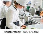 female chefs at work in... | Shutterstock . vector #500478502