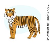 tiger illustration | Shutterstock .eps vector #500487712