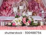 Wedding Table Decorated With...