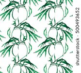 nature botanic floral seamless...   Shutterstock . vector #500493652