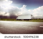 the highway transportation with ... | Shutterstock . vector #500496238