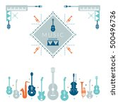 music instruments object  label ... | Shutterstock .eps vector #500496736
