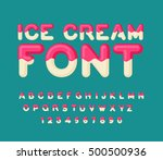 ice cream font. popsicle... | Shutterstock .eps vector #500500936