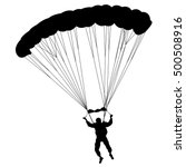 skydiver  silhouettes... | Shutterstock .eps vector #500508916