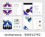 geometric background template... | Shutterstock .eps vector #500512792