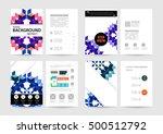 geometric background template... | Shutterstock .eps vector #500512792