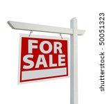 for sale real estate sign... | Shutterstock . vector #50051323