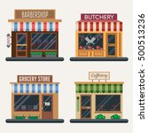 set of shops. different... | Shutterstock .eps vector #500513236