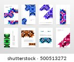 geometric background template... | Shutterstock .eps vector #500513272