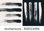 vector set of hand drawn grunge ... | Shutterstock .eps vector #500514496