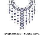 geometric ethnic pattern neck...   Shutterstock .eps vector #500514898