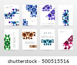 geometric background template... | Shutterstock .eps vector #500515516